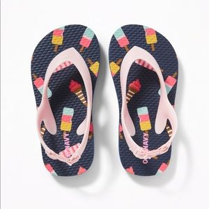 NWT Old Navy Ice Cream Flip Flops Size 8